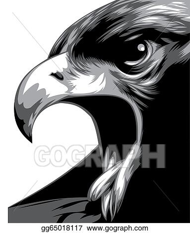 Eagle Wings Vector Clip Art Spread Clipart Black And White