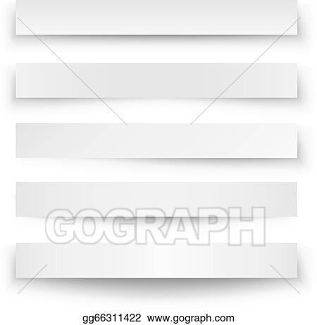 vector illustration header blank web banner shadow template eps