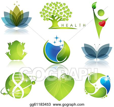 Vector Art Health Care And Ecology Symbols Eps Clipart Gg61183453