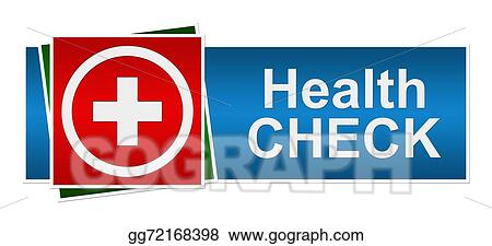 Stock Illustration Health Check Red Blue Green Banner Clipart Illustrations Gg72168398 Gograph