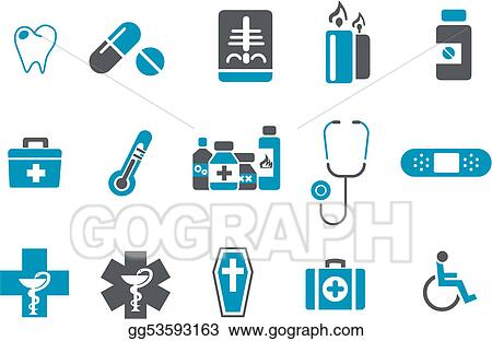 Vector stock health icon set clipart illustration gg53593163 health icon set ccuart Image collections