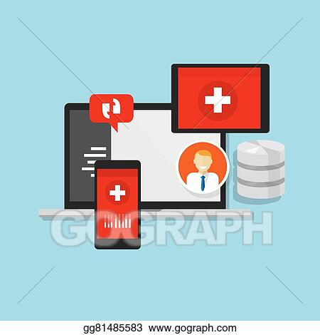 Vector Stock Health Medical Record Information System Hospital Clipart Illustration Gg81485583 Gograph