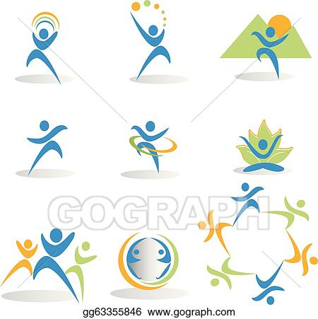Health Nature Yogasocial Icons