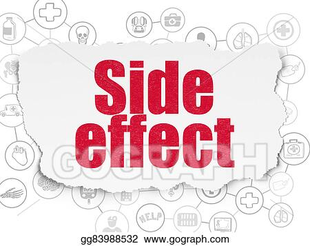 Stock Illustrations Healthcare Concept Side Effect On Torn Paper