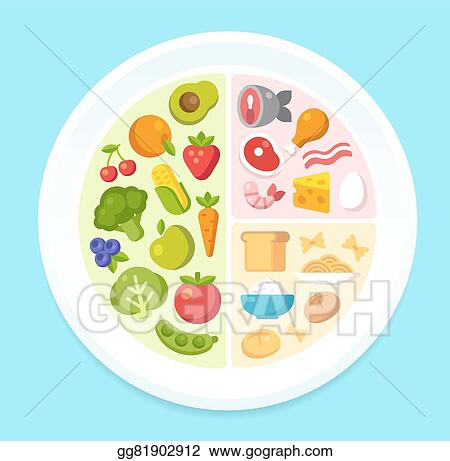 vector art healthy food chart clipart drawing gg81902912 gograph