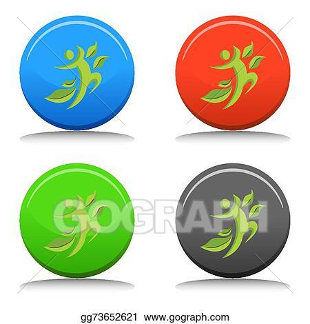 Vector Clipart Healthy Man Icon Vector Illustration Gg73652621