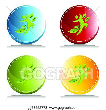 Vector Clipart Healthy Man Icon Vector Illustration Gg73652778