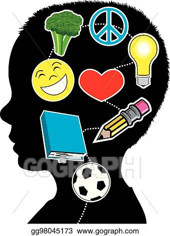 Eps Vector Healthy Mind Boy Stock Clipart Illustration
