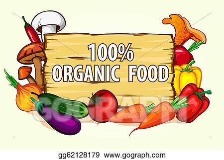 Vector Stock Healthy Organic Food Stock Clip Art Gg62128179 Gograph