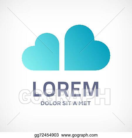Vector Stock Heart Cloud Symbol Logo Icon Stock Clip Art