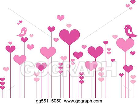 Vector clipart heart flowers with birds vector illustration heart flowers with birds mightylinksfo