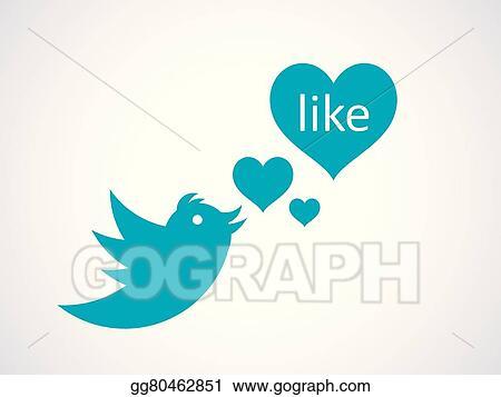 Vector Stock - Heart like button  Clipart Illustration