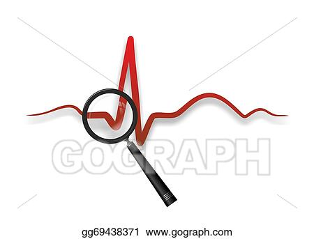 Heartbeat Line Art : Stock illustration heart medicine clipart gg gograph