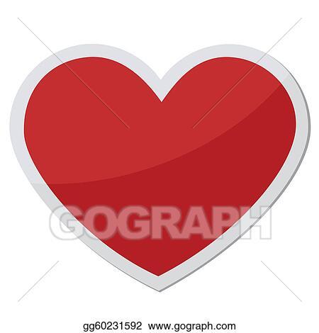 Eps Vector Heart Shape For Love Symbols Stock Clipart