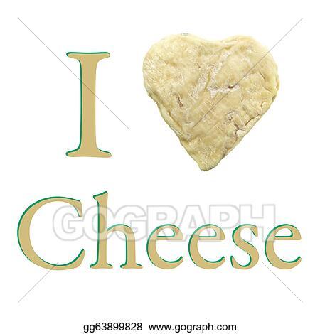 Stock Illustration - Heart shape goat cheese love wallpaper