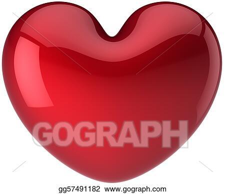 Stock Illustration Heart Shape Symbol I Love You Clipart Drawing