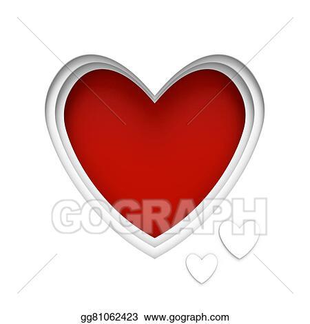 Clip Art - Heart shaped frame. Stock Illustration gg81062423 - GoGraph