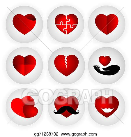 Eps Illustration Heart Vector Icon Indicating Love Togetherness