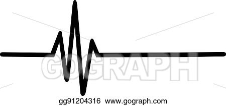 vector stock heartbeat pulse clipart illustration gg91204316 rh gograph com heartbeat clipart black and white heartbeat clip art thank you