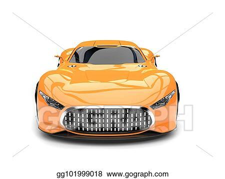 Stock Illustration Heat Wave Orange Modern Super Sports Car