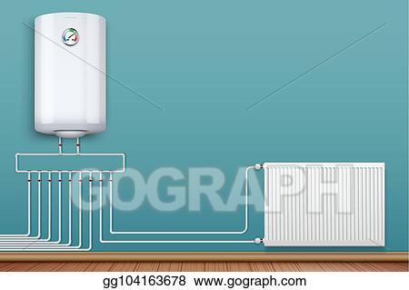 heating radiator and boiler in room