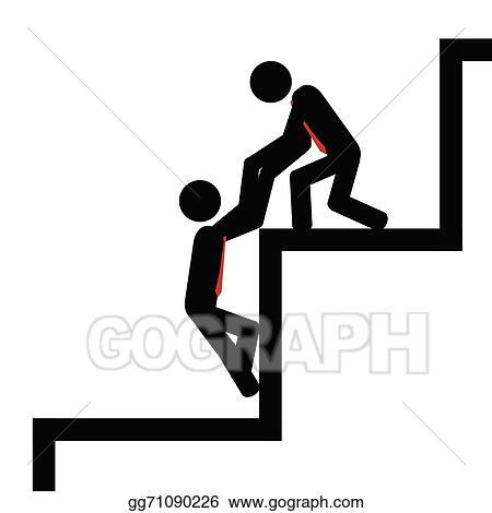 eps vector help with steps stock clipart illustration gg71090226