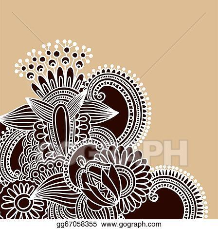 Vector Illustration Henna Doodle Vector Illustration Stock Clip