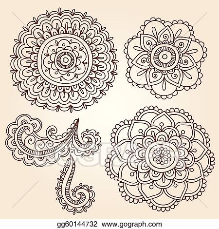 Vector Stock Henna Flower Mandala Vector Designs Clipart