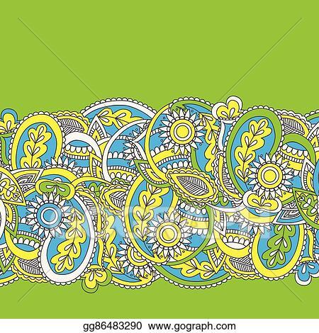 vector illustration henna mehndi card template mehndi invitation