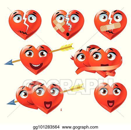 Herzen emojis mit Emoji (oov)
