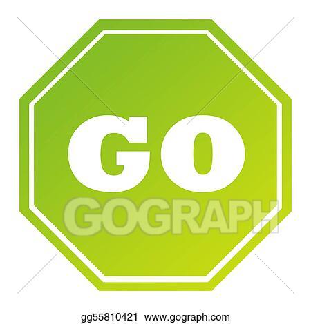 Clipart Hexagonal Green Go Sign Stock Illustration Gg55810421