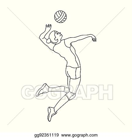 Free Volleyball Player Silhouette, Download Free Clip Art, Free Clip Art on  Clipart Library