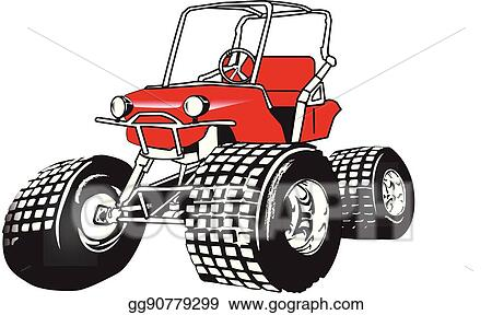Vector Art - High performance golf cart.eps. Clipart Drawing ... on red shopping cart, red push cart, red golf card,