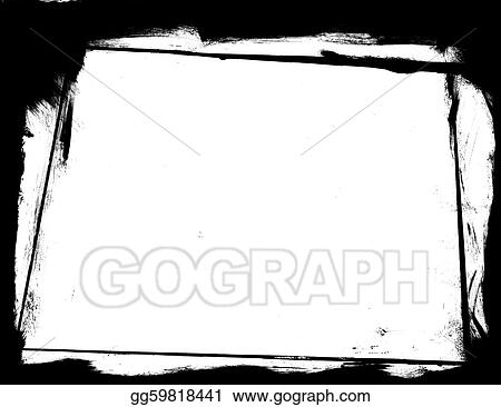 Clip Art - High resolution grunge frame. Stock Illustration ...