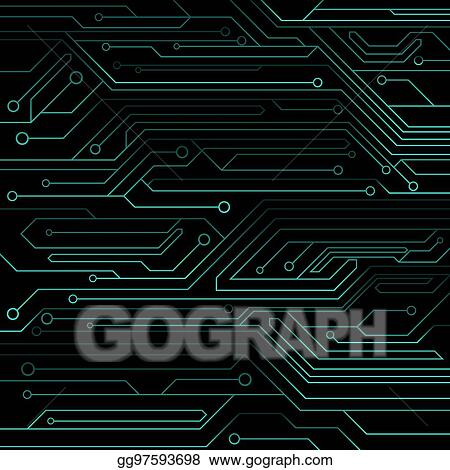 vector illustration high tech background of blue color from ahigh tech background of blue color from a computer board with leds and neon connectors computer circuit vector illustration
