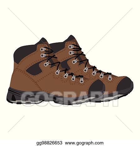Vector Stock Hiking Boots Vector Clipart Illustration Gg98826653