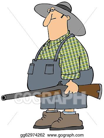 Stock Illustrations - Hillbilly man  Stock Clipart