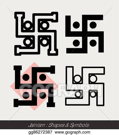 Eps Vector Hinduism Swastik Symbols Stock Clipart Illustration