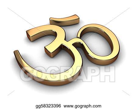Drawings - Hinduism symbol  Stock Illustration gg58323396