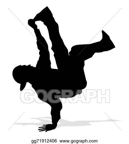 Vector Illustration Hip Hop Dancer Stock Clip Art Gg71912406 Gograph