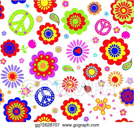 Hippie wallpaper with abstract flow