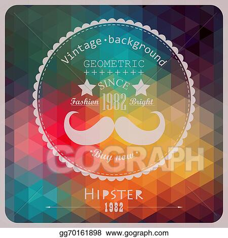 eps vector hipster background made of triangles retro label