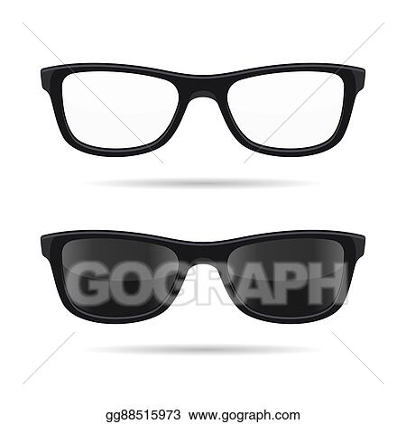 951f47d3061 Vector Stock - Hipster glasses set. transparent and sunglasses model ...