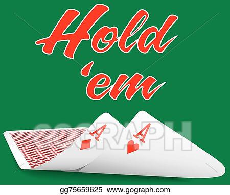 Vector Illustration Holdem Poker Pair Ace Cards Under Eps Clipart Gg75659625 Gograph