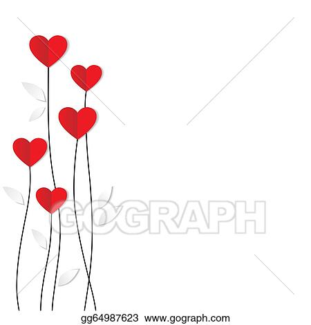 Vector Stock Holiday Card Heart From Paper Valentines Day Stock