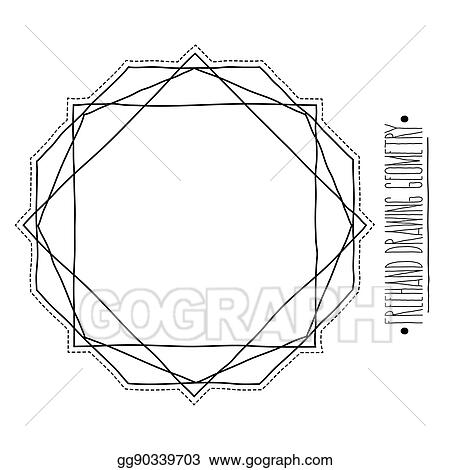 Vector Stock - Hollow core geometric shapes and elements