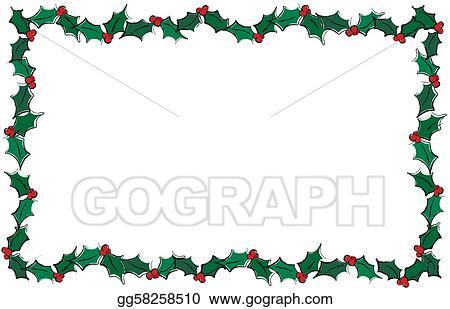 Holly Border Clip Art Royalty Free Gograph
