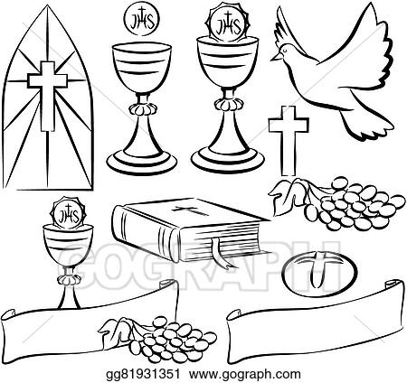 Eps Illustration Holy Communion Vector Symbols Vector Clipart