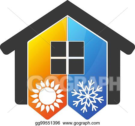Vector Stock Home Air Conditioner Symbol Stock Clip Art