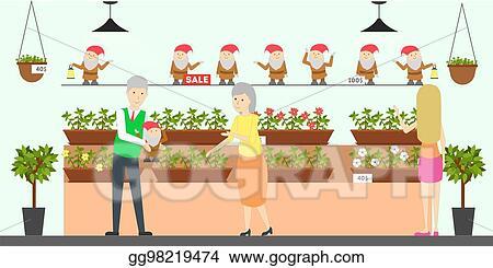 Vector Art Home And Garden Store Eps Clipart Gg98219474 Gograph